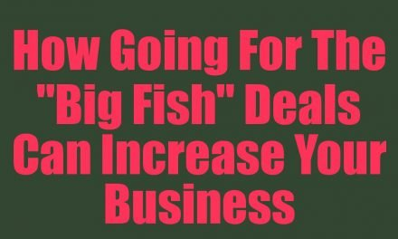 "How Going For The ""Big Fish"" Deals Can Increase Your Business"